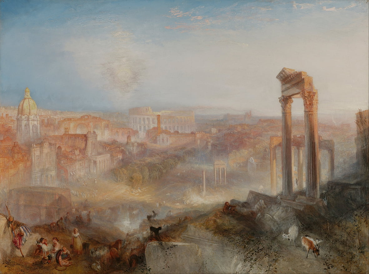 Modern Rome-Campo Vaccino da Joseph Mallord William Turner