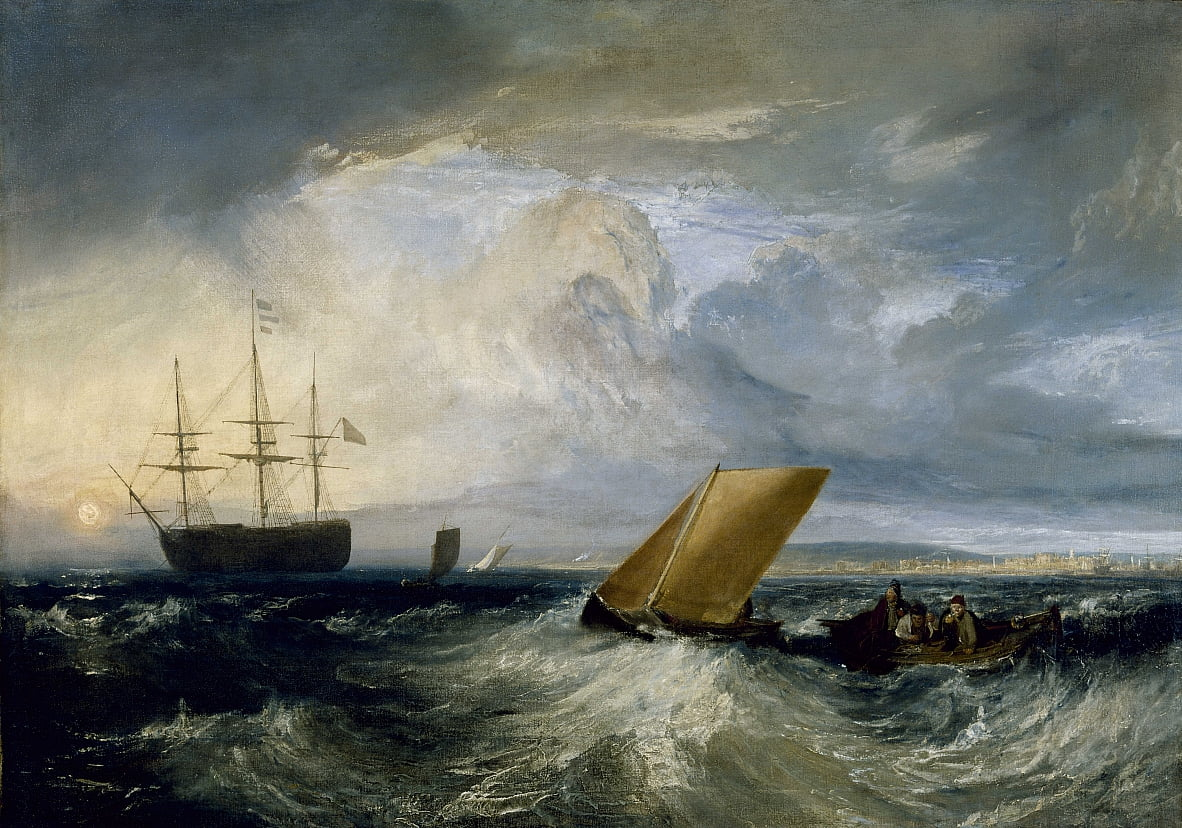 Sheerness vista dal Nore da Joseph Mallord William Turner