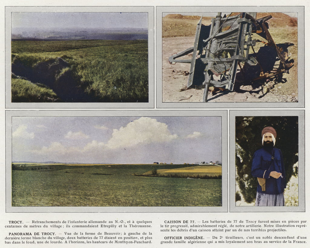 Trocy, Caisson di 77, Panorama di Trocy, Native Officer da Jules Gervais Courtellemont