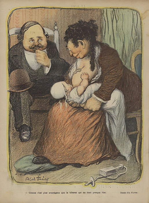 Illustrazione per The Laugh da Jules Abel Faivre