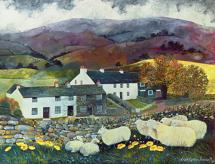 Sheep Country, 1988 (wc, gouache) da Lisa Graa Jensen