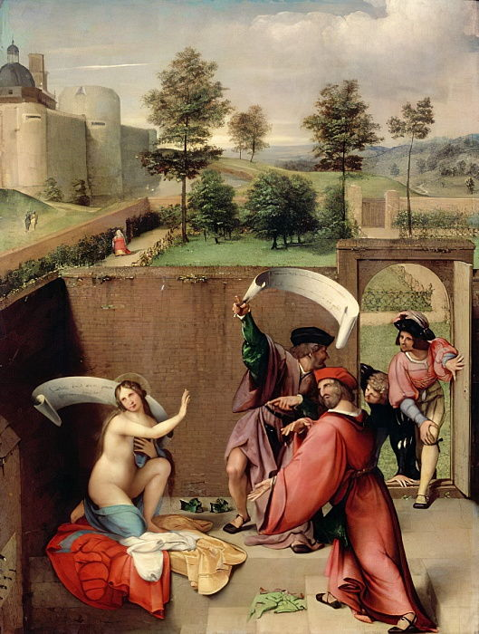 Susanna and the Elders, 1517 (pannello) da Lorenzo Lotto
