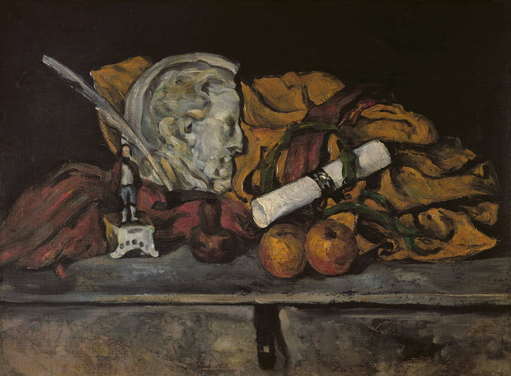 Still Life of the Artist's Accessories, 1872 da Paul Cézanne