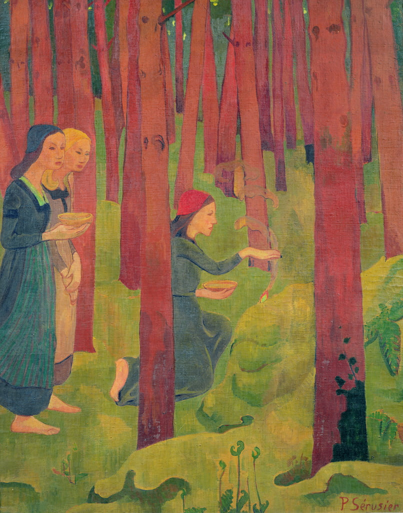 The Incantation, o The Holy Wood, 1891 da Paul Sérusier