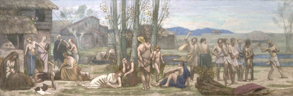 Ludus Pro Patria, o Playing for Ones Country da Pierre Puvis de Chavannes