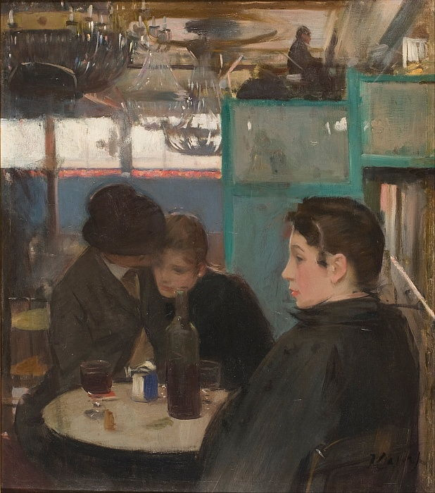 Interno del Moulin de la Galette da Ramon Casas i Carbo