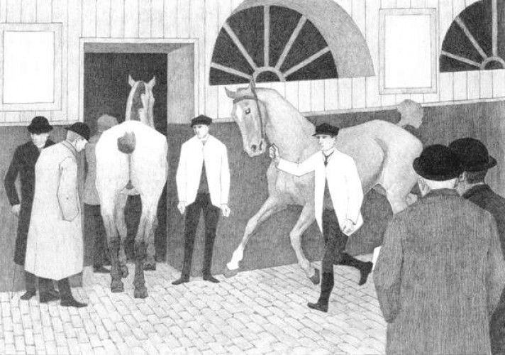 The Horse Mart (Barbican No.1) 1920 da Robert Polhill Bevan