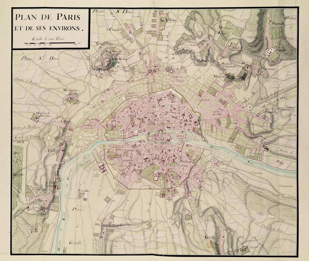 Cartina Di Parigi E Dintorni.Mappa Di Parigi E Dei Suoi Dintorni Da 39 Oisive