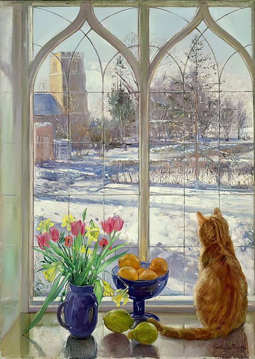 Ombre di neve e gatto da Timothy Easton