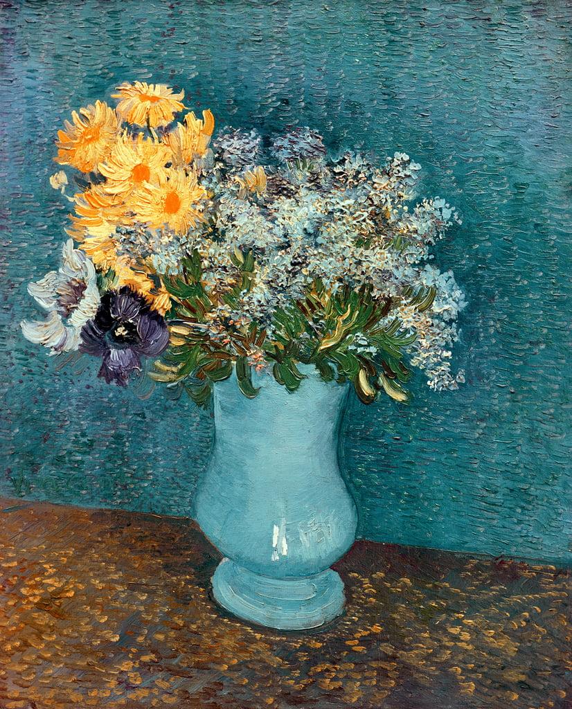 Mazzo Di Fiori Van Gogh.Vaso Di Fiori 1887 Di Vincent Van Gogh