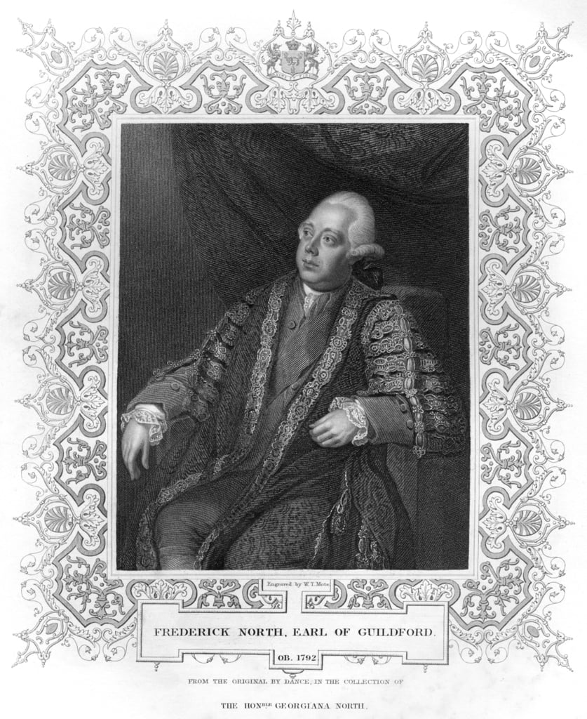 Ritratto di Frederick North, Earl of Guildford da W.T. Mote