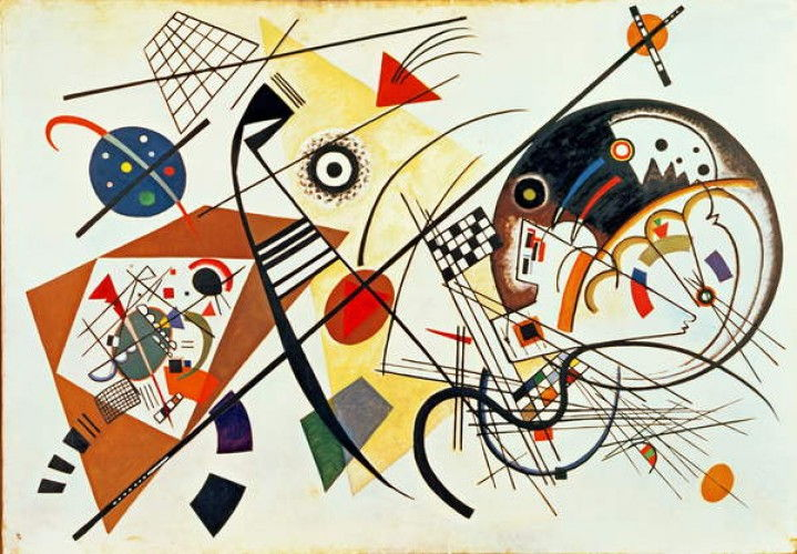 Intersecting Lines, 1923 da Wassily Kandinsky