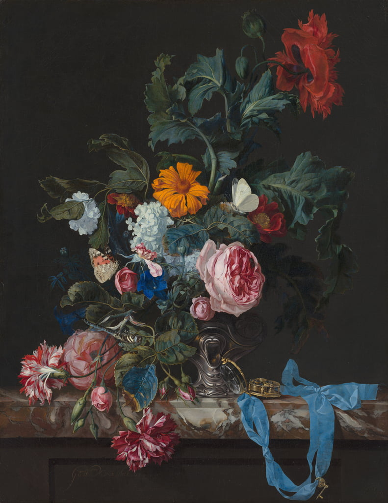 Natura morta con papaveri e rose da Willem van Aelst