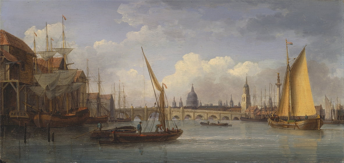 London Bridge, con la Cattedrale di St. Paul in lontananza da William Anderson