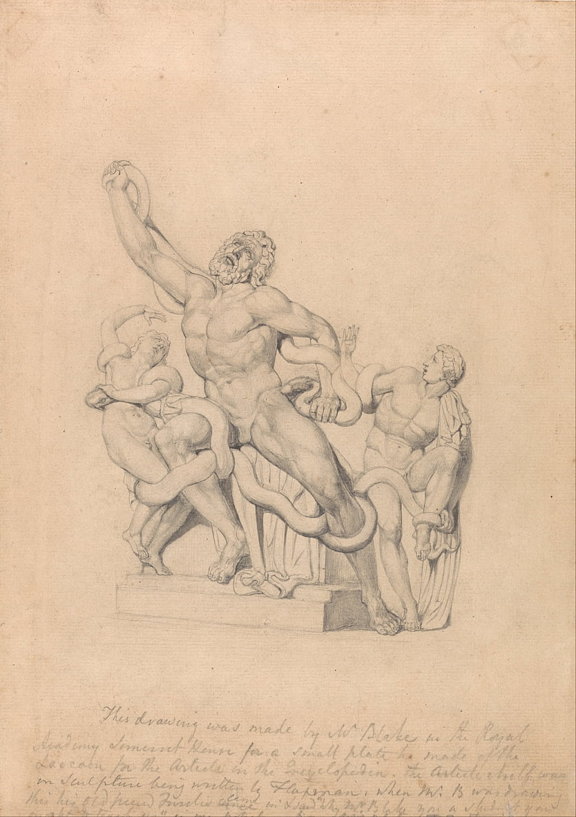 Copia del Laocoonte, per Reess Cyclopædia da William Blake