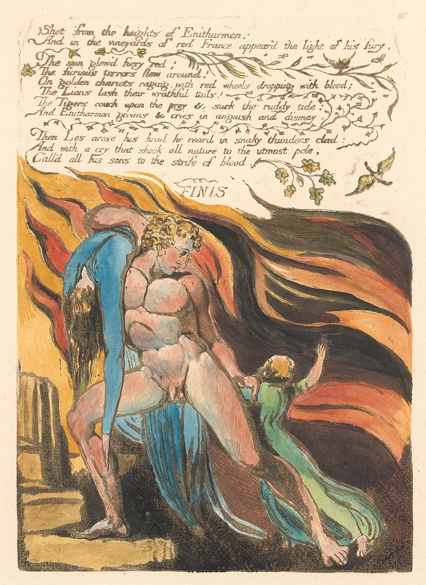 Europa. A Prophecy, tavola 17, Shot from the heights. . . . (Bentley 18) da William Blake