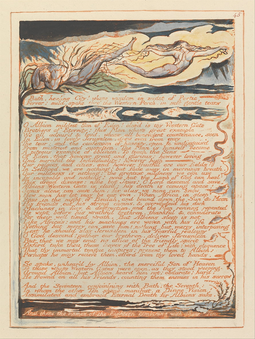 Gerusalemme, Piatto 45, da William Blake