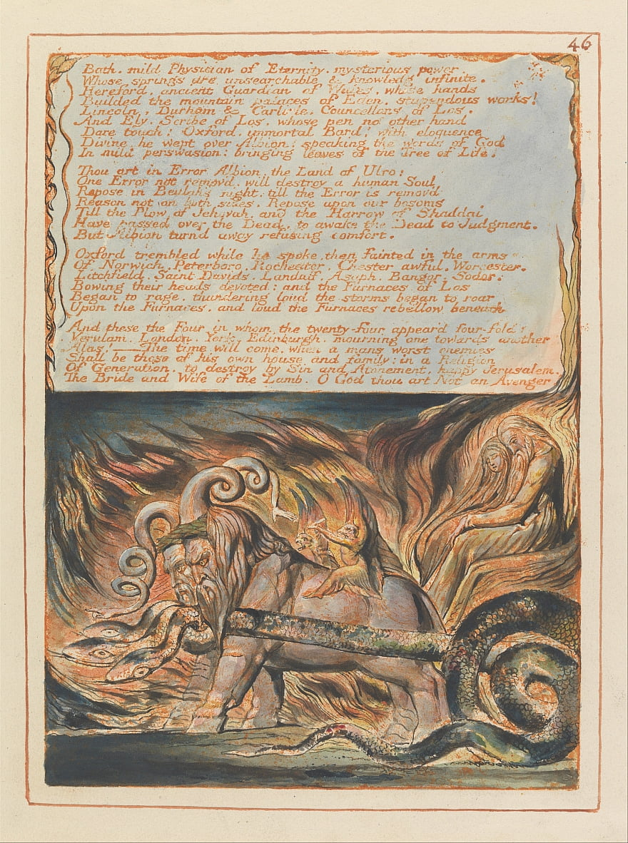 Gerusalemme, Piatto 46, da William Blake