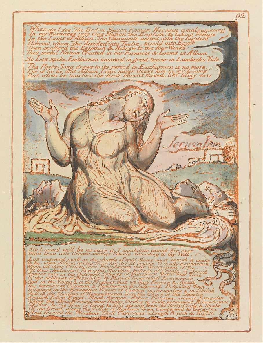 Gerusalemme, tavola 92, cosa vedo! .... da William Blake