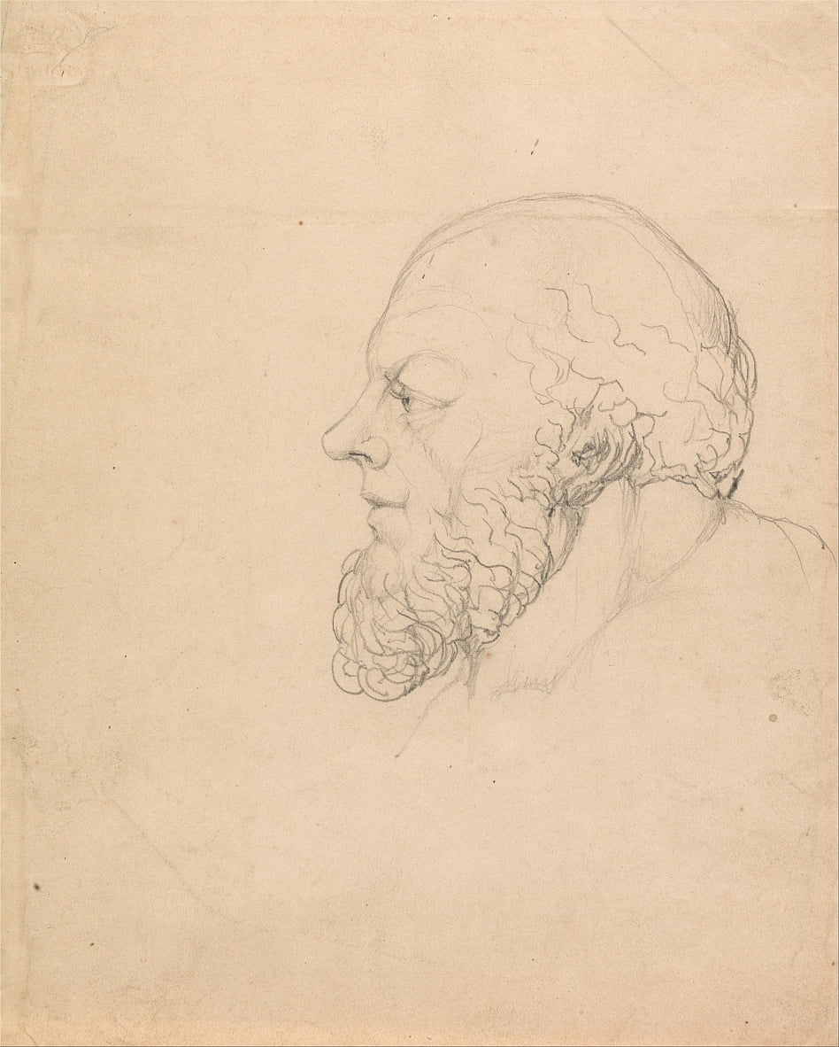 Socrate, capo visionario da William Blake