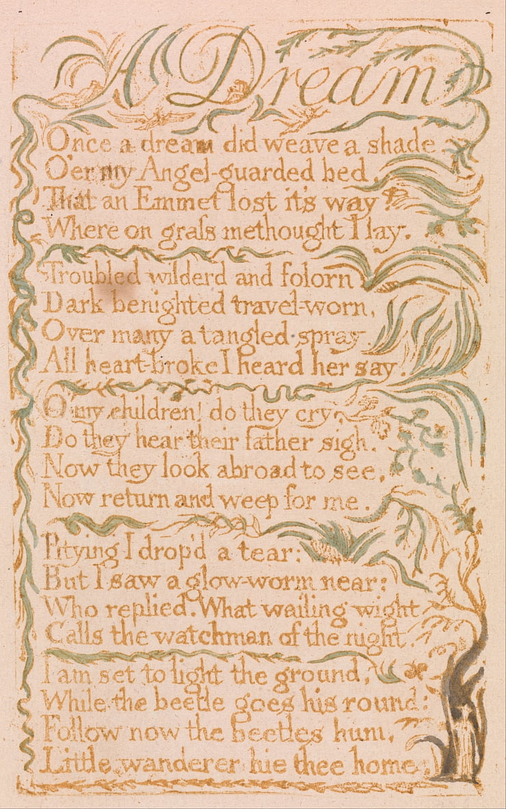 Songs of Innocence, tavola 4, da William Blake