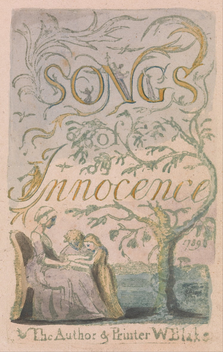 Songs of Innocence and of Experience, Plate 2, Innocence Title Page (Bentley 3) da William Blake