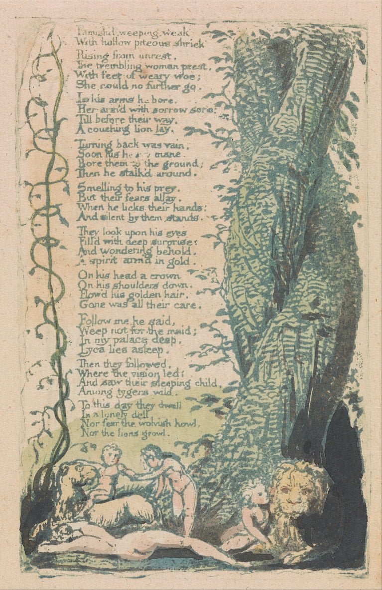 Songs of Innocence and of Experience, tavola 22, da William Blake