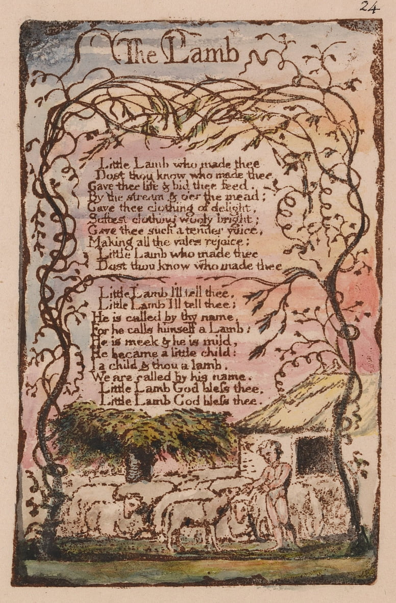 Songs of Innocence and of Experience, tavola 24, da William Blake
