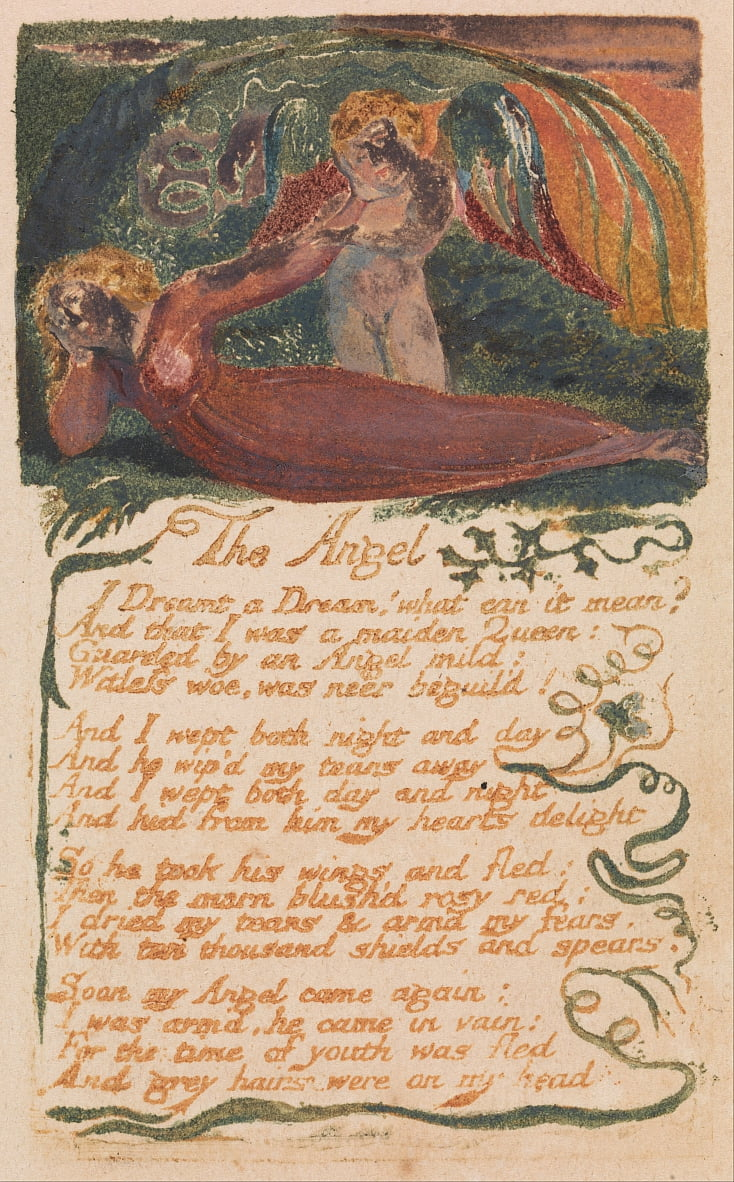 Songs of Innocence and of Experience, tavola 40, Langelo (Bentley 41) da William Blake