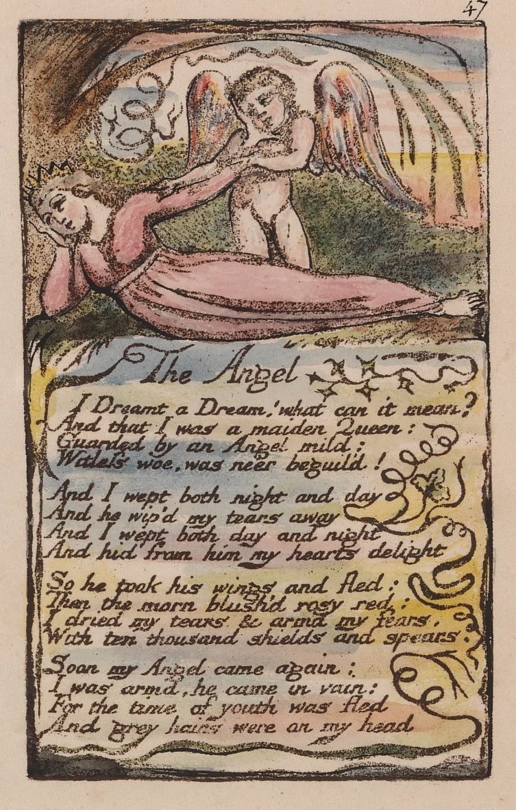 Songs of Innocence and of Experience, Plate 47, The Angel (Bentley 41) da William Blake