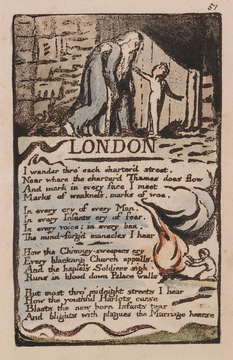 Songs of Innocence and of Experience, Tavola 51, Londra (Bentley 46) da William Blake