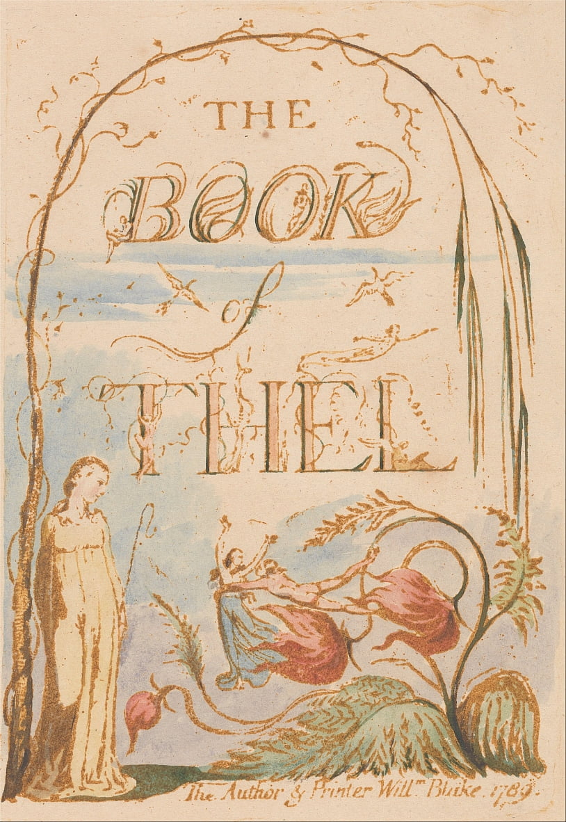 The Book of Thel, Plate 2, Title Page da William Blake