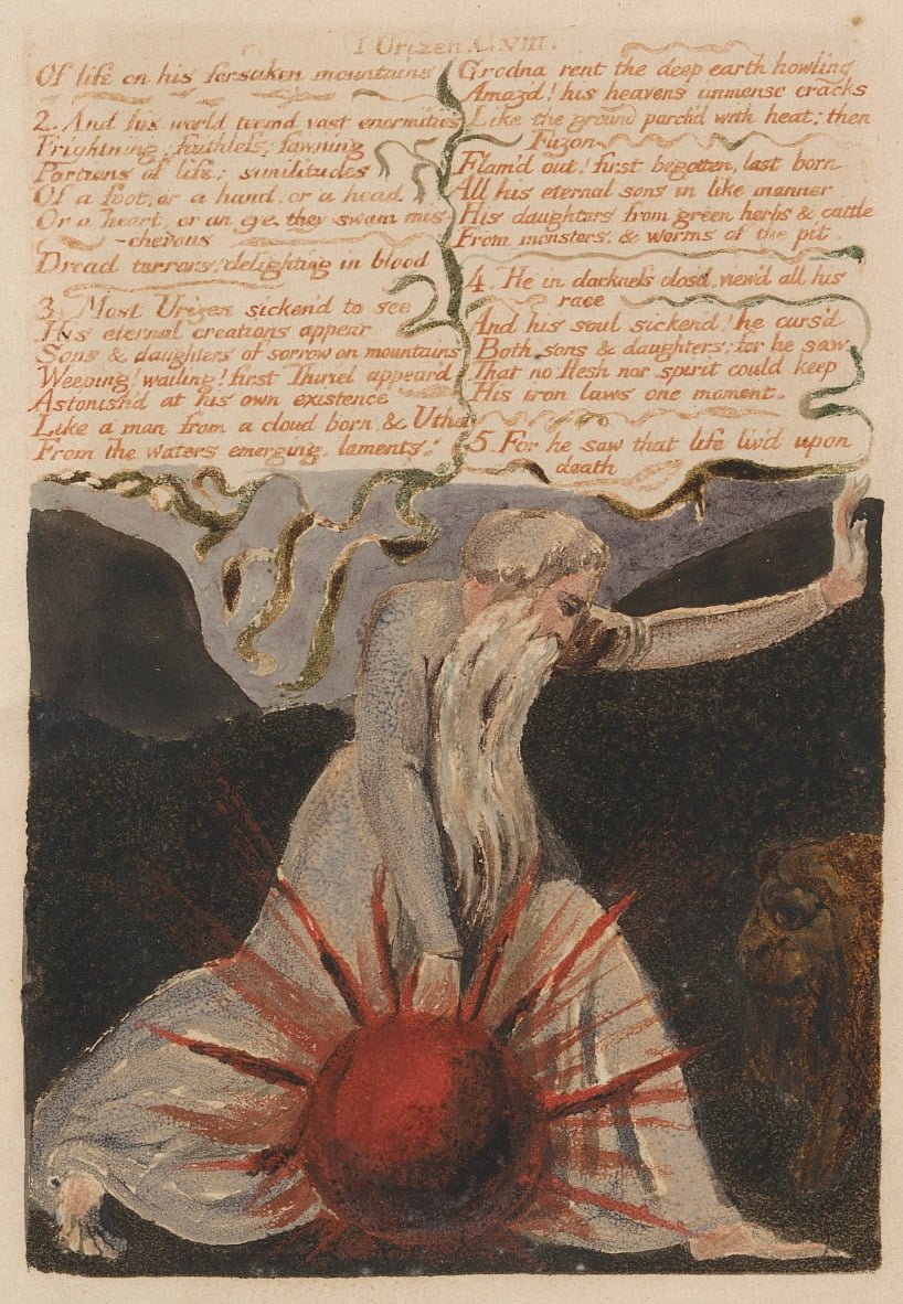 Il primo libro di Urizen, Bentley Copy A da William Blake