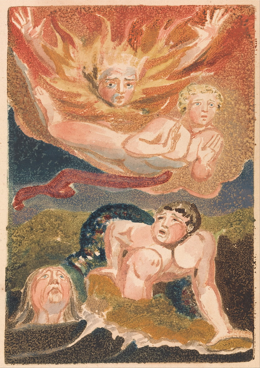 Il primo libro di Urizen, tavola 22 (Bentley 24) da William Blake