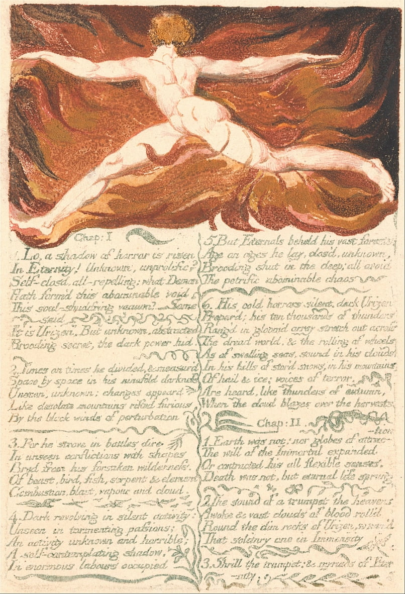 Il primo libro di Urizen, tavola 3, cap. 1. . . . (Bentley 3) da William Blake