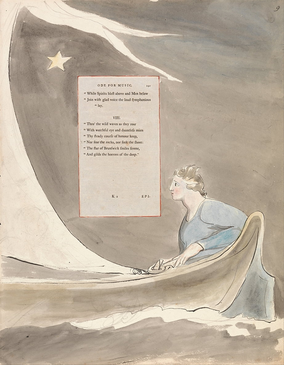 Le poesie di Thomas Gray, Design 101, Ode for Music. da William Blake