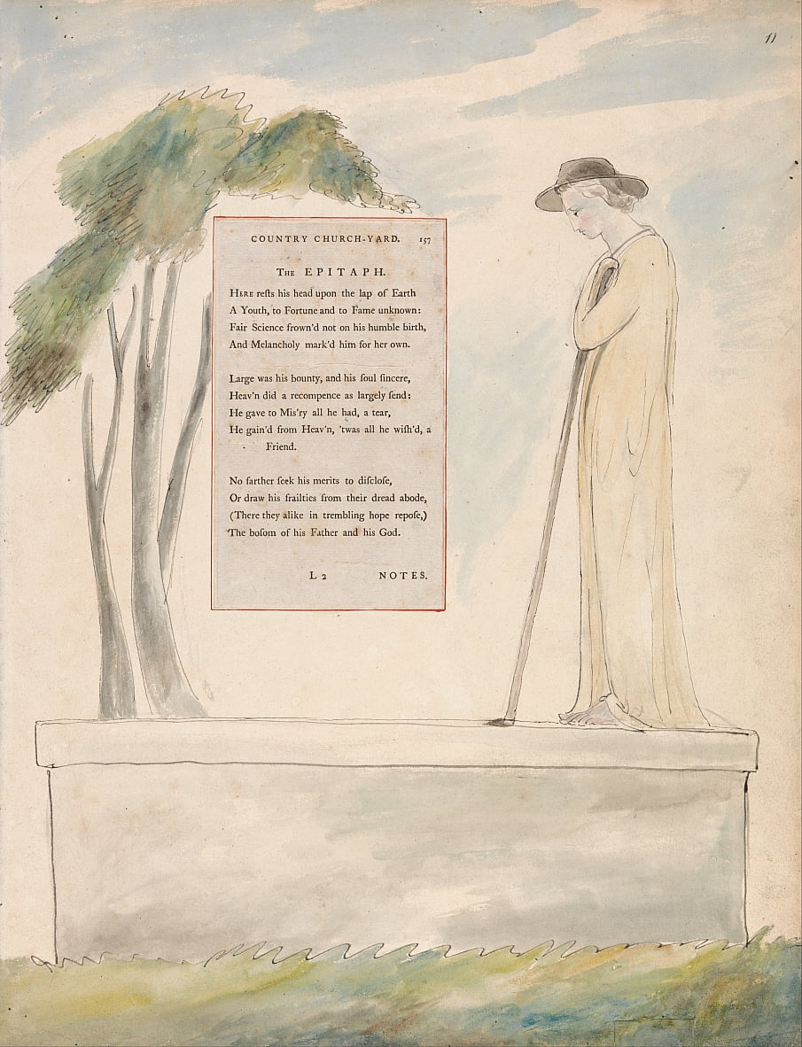 The Poems of Thomas Gray, Design 115 da William Blake