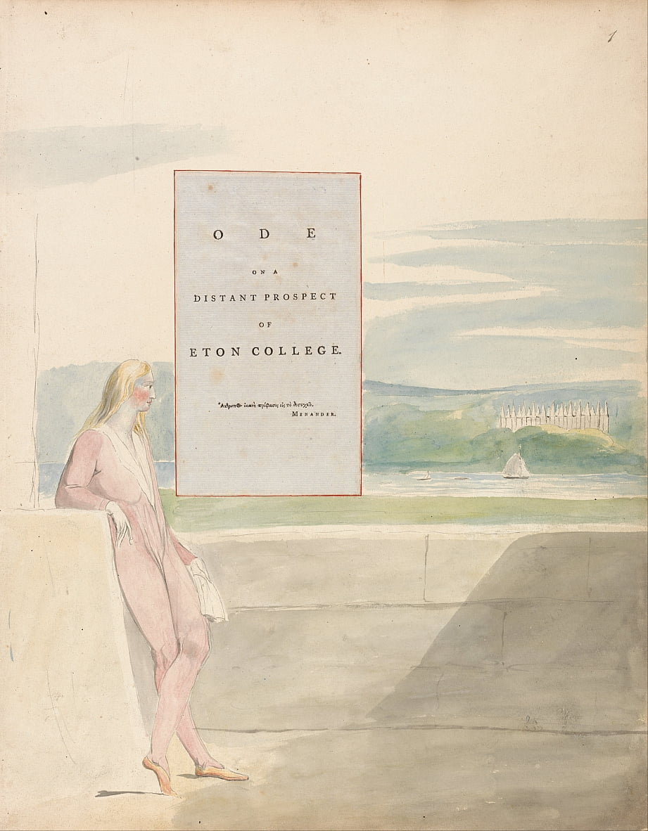 The Poems of Thomas Gray, Design 13, Ode on a Distant Prospect of Eton College. da William Blake