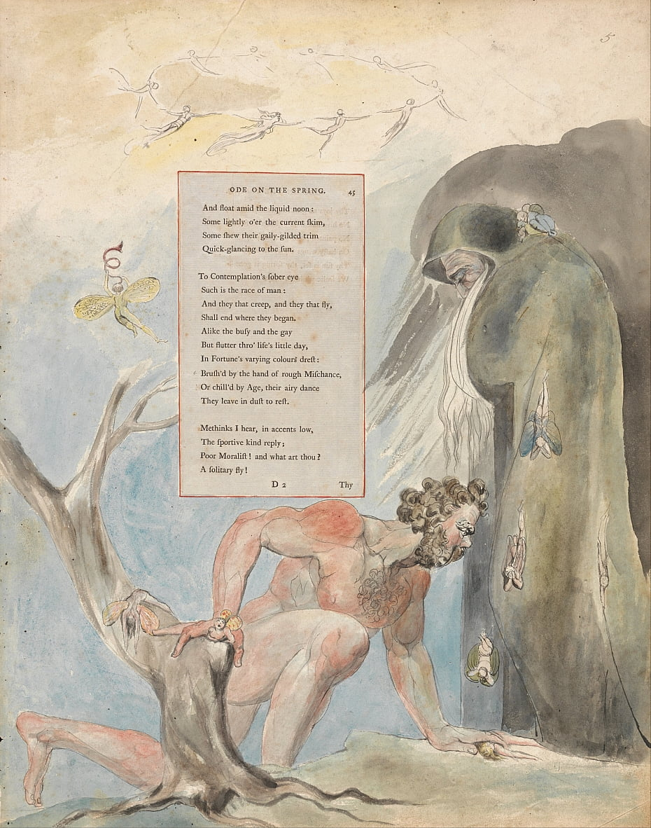 Le poesie di Thomas Gray, Design 5, Ode on the Spring. da William Blake