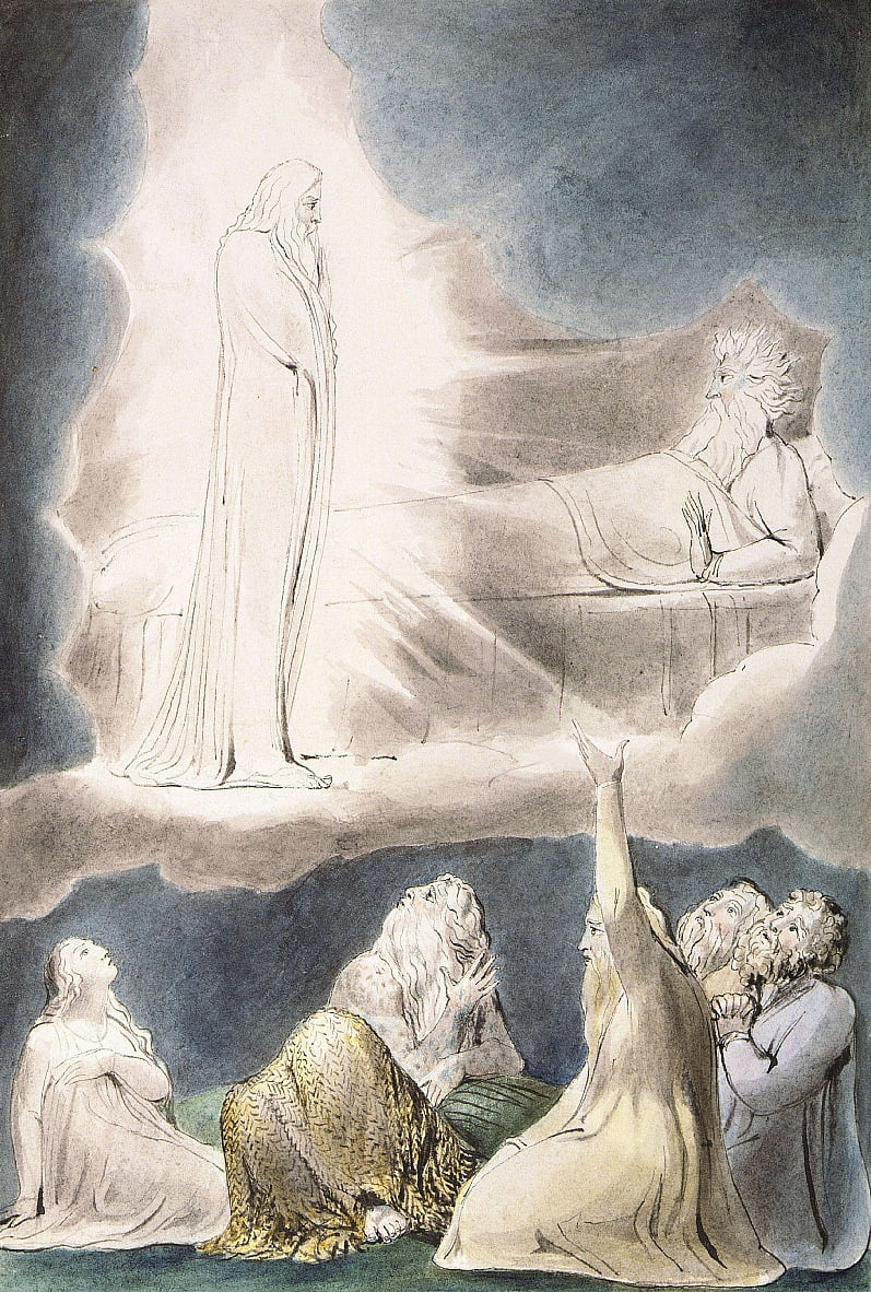La visione di Elifaz da William Blake