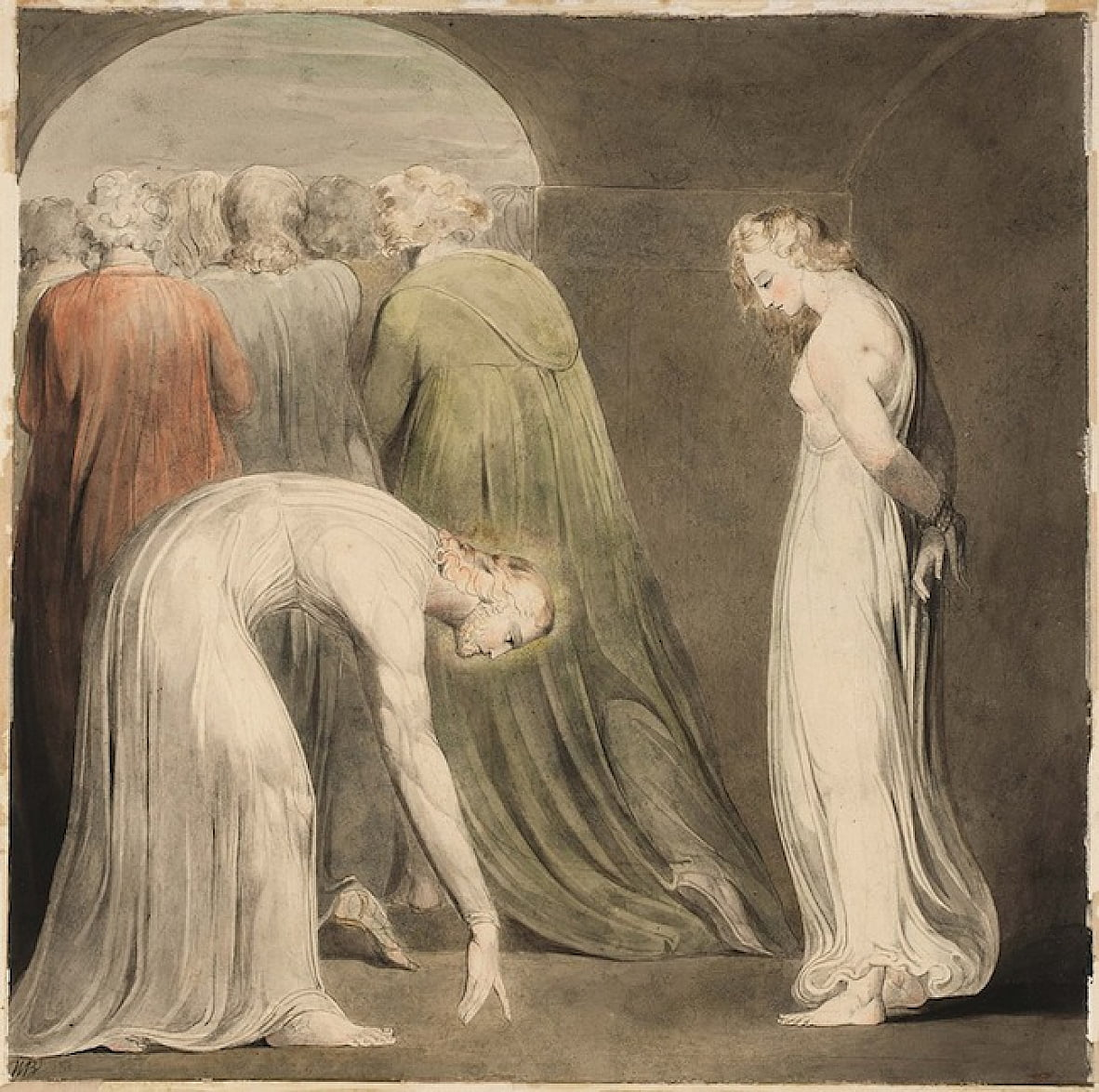 La donna presa in adulterio da William Blake
