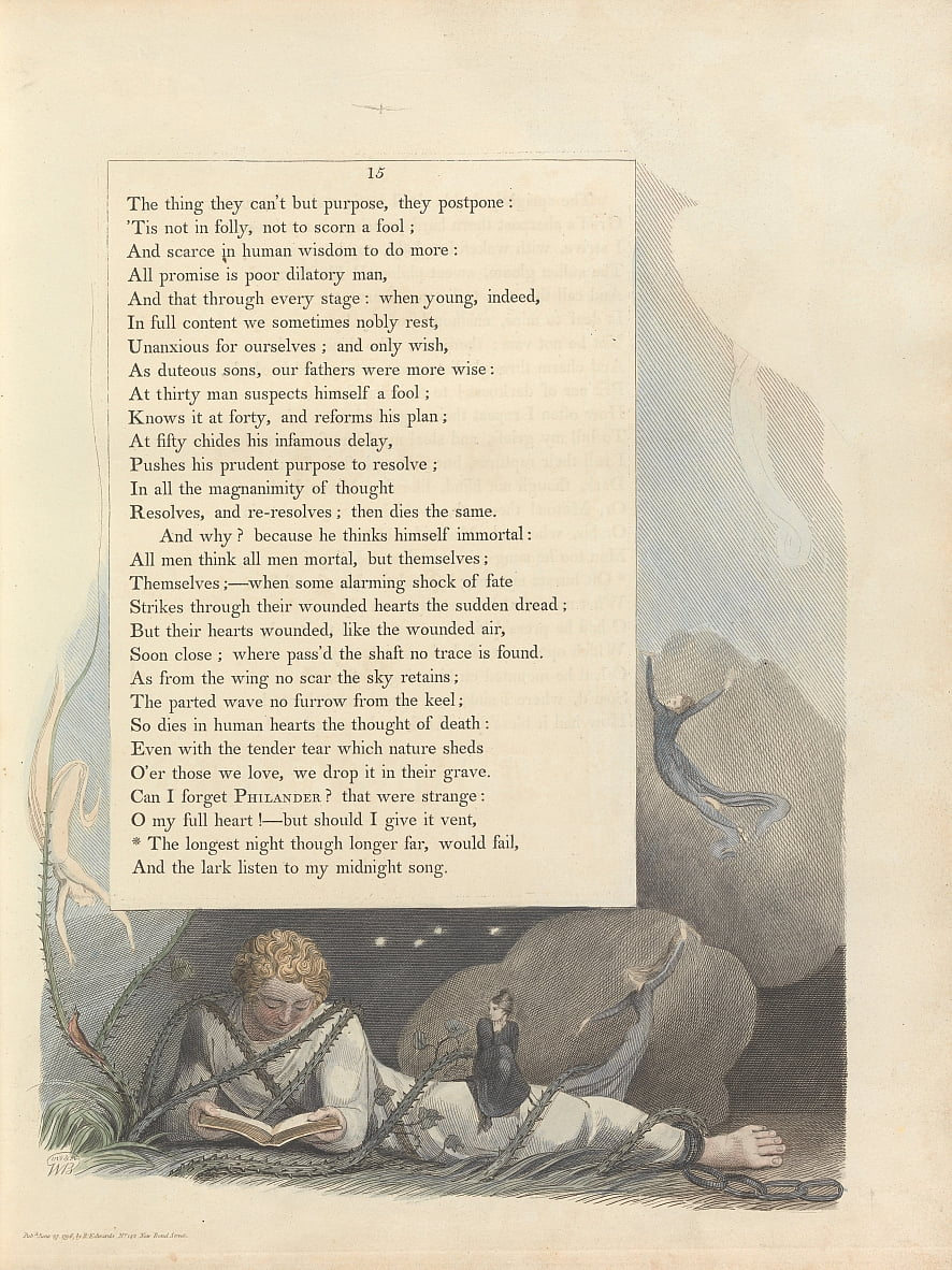 Youngs Night Thoughts, Pagina 15, da William Blake