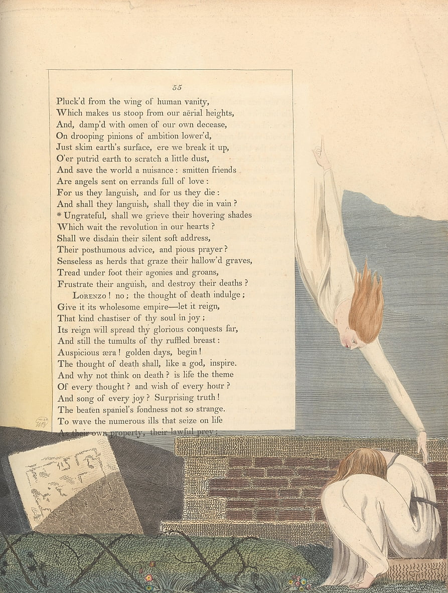 Youngs Night Thoughts, Pagina 55, da William Blake