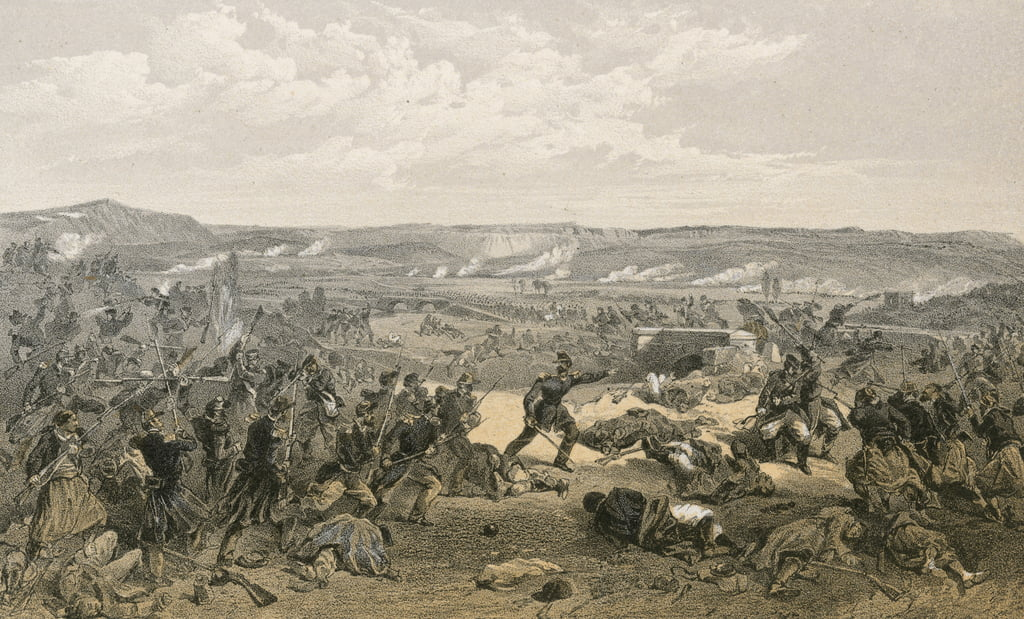Battaglia di Tchernaya, 16 agosto 1855 da William Crimea Simpson