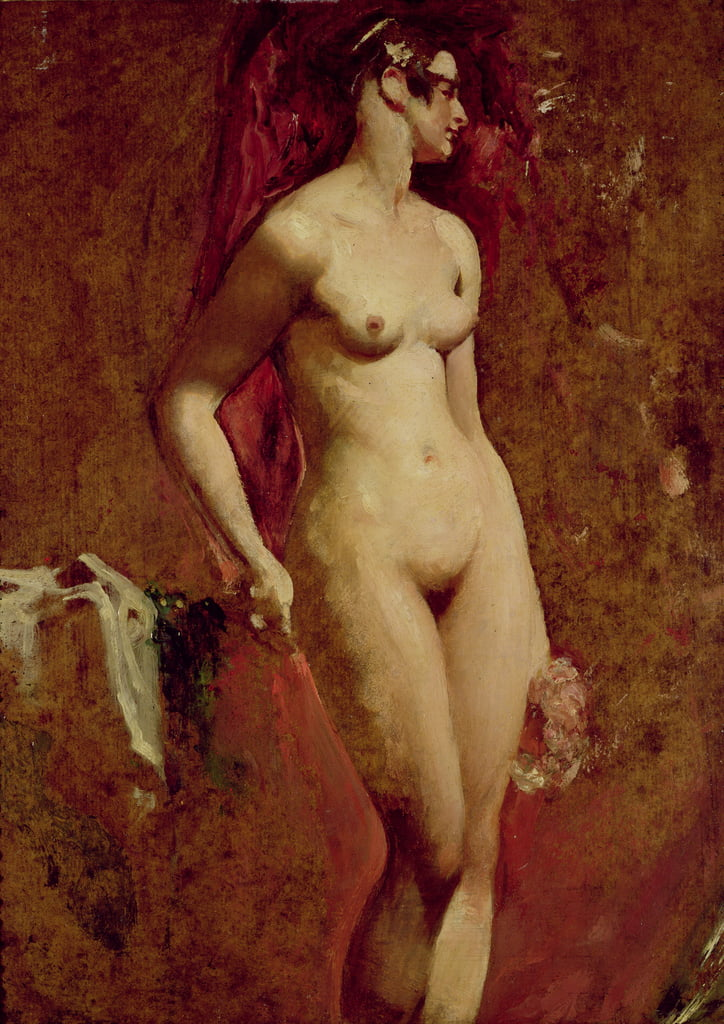 Donna nuda in piedi da William Etty