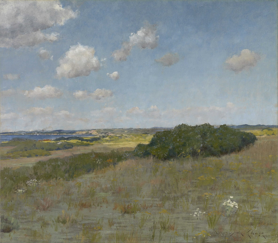 Luce solare e ombra, colline di Shinnecock da William Merritt Chase