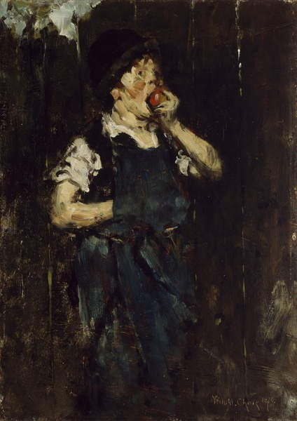 The Apprentice (Boy with Apple), 1876 da William Merritt Chase