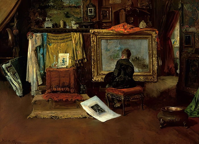 The Inner Studio, Tenth Street, 1882 da William Merritt Chase