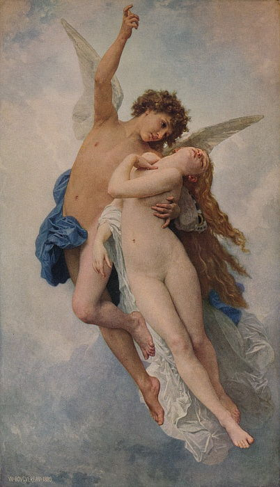 Cupido e Psiche, 1889, 1938 da William Adolphe Bouguereau