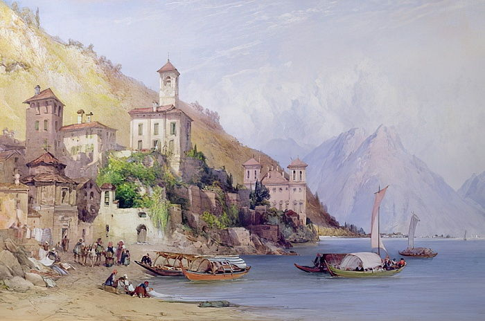 Gravedona, Lago di Como, 1895 da William Callow